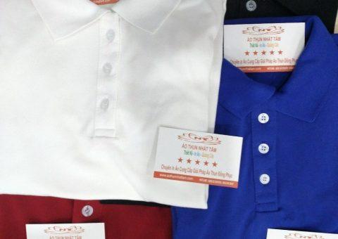 đặt áo thun công ty chất liệu vải cá sấu loại tốt