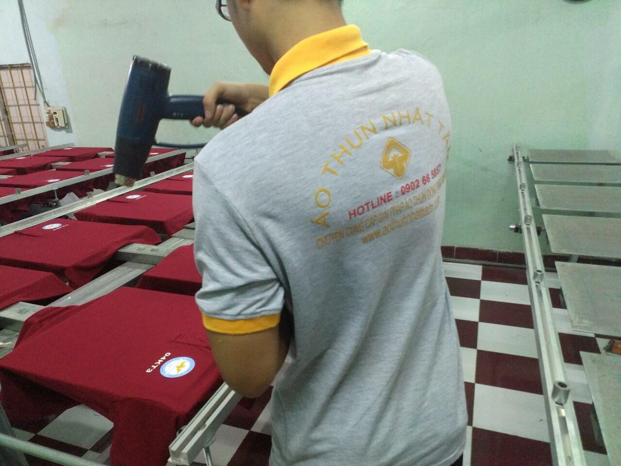 Cơ sở in chữ lên áo uy tín chất lượng