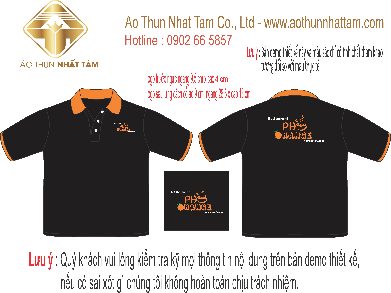Thiết kế áo thun cho nhà hàng quán ăn