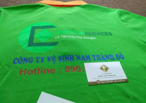 Đặt áo thun công sở kết hợp in logo