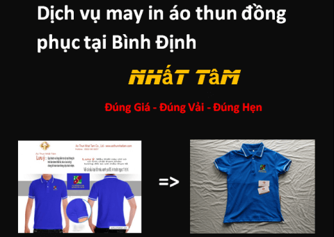 Dịch vụ may in áo thun đồng phục tại Bình Định