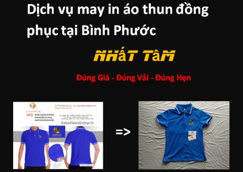 Dịch vụ may in áo thun đồng phục tại Bình Phước