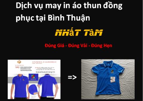 Dịch vụ may in áo thun đồng phục tại Bình Thuận