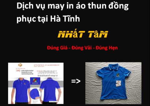 Dịch vụ may in áo thun đồng phục tại Hà Tĩnh