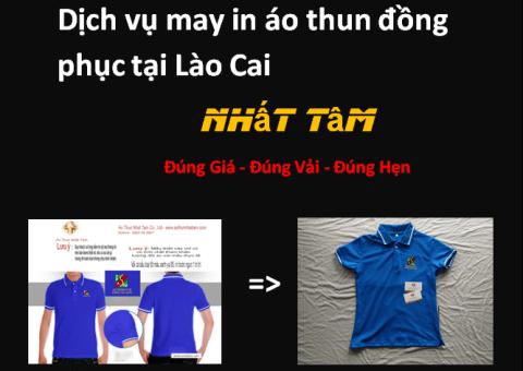 Dịch vụ may in áo thun đồng phục tại Lào Cai