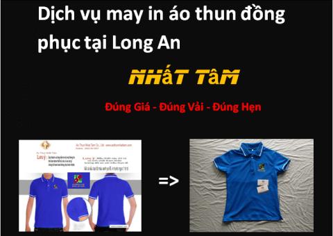 Dịch vụ may in áo thun đồng phục tại Long An
