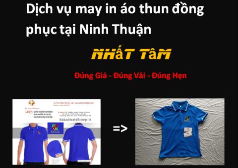 Dịch vụ may in áo thun đồng phục tại Ninh Thuận