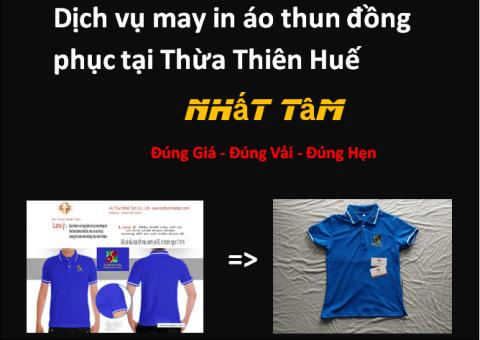 Dịch vụ may in áo thun đồng phục tại Thừa Thiên Huế